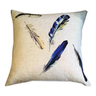 Watercolor Feathers Pillow