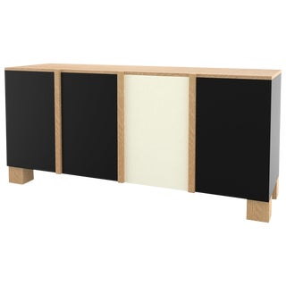 Contemporary 100 Sideboard in Oak and Black and White by Orphan Work, 2019 For Sale