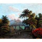 Image of 1855 - 1860 Early American Pastel Landscape Painting For Sale