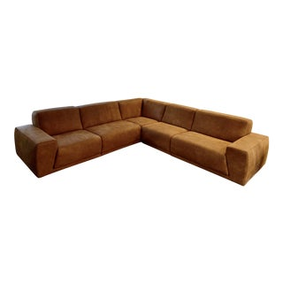 Stefano Incanto Handmade Italian Leather Sectional For Sale