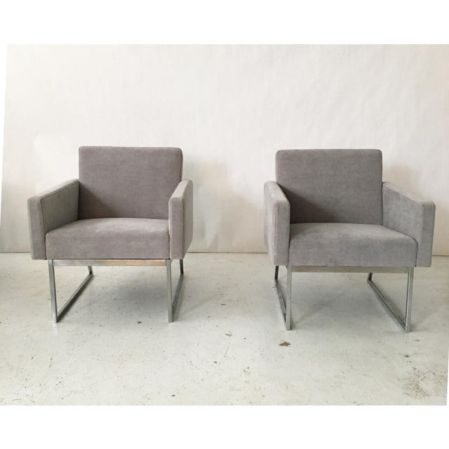 Milo Baughman Lounge Chairs- A Pair - Image 3 of 10