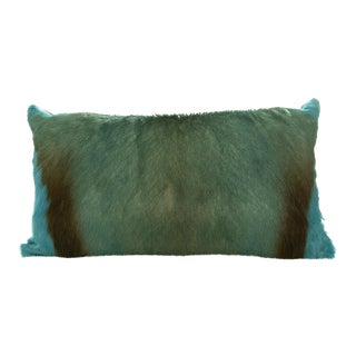 Modern Springbok Pillow in Sea Foam 18x10 For Sale
