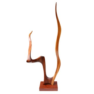1970s USA Jack Rogers Hopkins Unique Walnut Sculpture For Sale