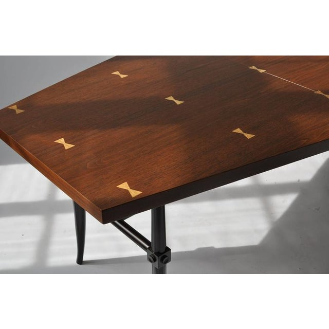 Mahogany Rare Dining Table by Tommi Parzinger For Sale - Image 7 of 9