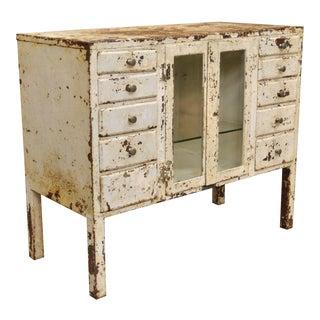 Antique Schumann Bilt Industrial Steel Metal Dental Medical Bathroom Cabinet