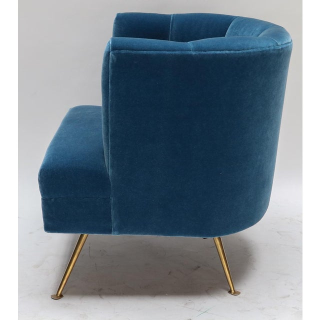 Not Yet Made - Made To Order 1960s Italian Lounge Chairs in Blue Mohair-A Pair For Sale - Image 5 of 9