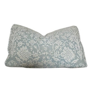 Modern Fortuny Blue Pillow For Sale