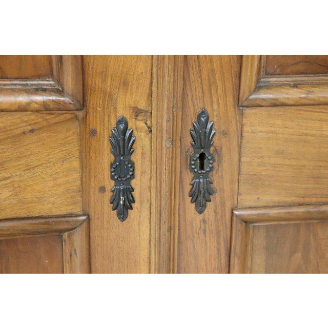 17th Century Italian Louis XIV Walnut Carved Wardrobe or Armoire For Sale - Image 10 of 13