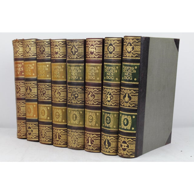 Art Deco Leather-Bound Books - Set of 8 - Image 3 of 4