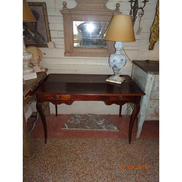 Louis XV Epoch Walnut Desk For Sale - Image 11 of 12
