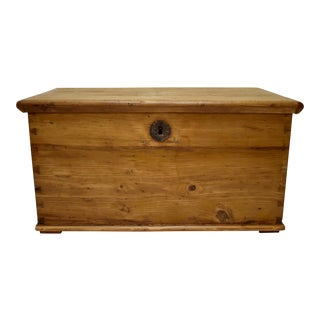 Small Pine Trunk or Blanket Chest