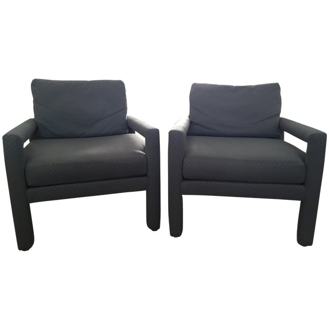Milo Baughman Style Drexel Club Chairs - A Pair - Image 1 of 6