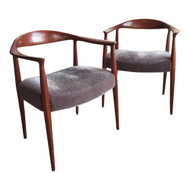 1970s Hans Wegner Kennedy Round Chairs - A Pair - Image 1 of 10