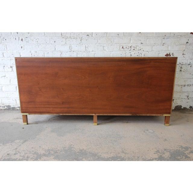 Baker Furniture Milling Road Campaign Style Long Dresser or Credenza For Sale - Image 11 of 13