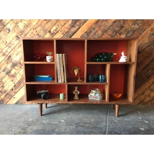 Mid Century Style Walnut Bookshelf - Image 5 of 5