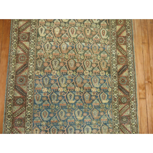 Textile Antique Persian Malayer Runner, 3'4'' X 20'2'' For Sale - Image 7 of 11