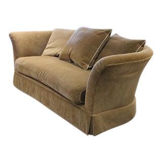 Custom Velour Swain Sofa For Sale