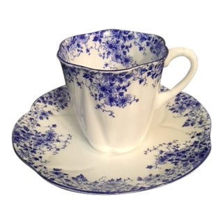 Vintage Shelley Demi-Tasse Cup/Saucer For Sale