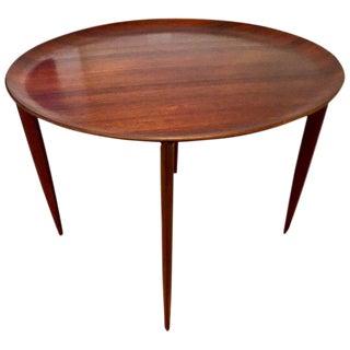 Fritz Hansen Mid-Century Teak Tray Folding Table For Sale