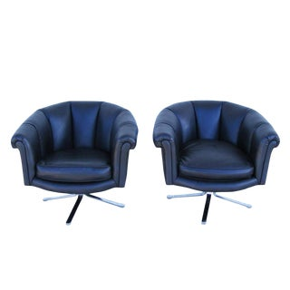 Pair of Vintage Mid-Century Nicos Zographos Lounge Chairs For Sale