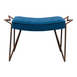Mid-Century Brass Bench, Italy For Sale