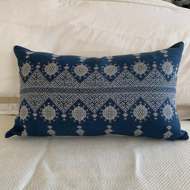 Contemporary Peter Dunham Navy Blue Lumbar Pillow Cover For Sale - Image 3 of 8