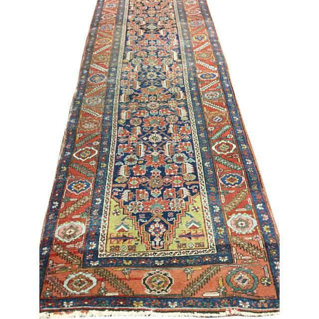 "Traditional Antique Heriz Hand Woven Runner, 3'1"" X 13'3"" For Sale - Image 3 of 6"