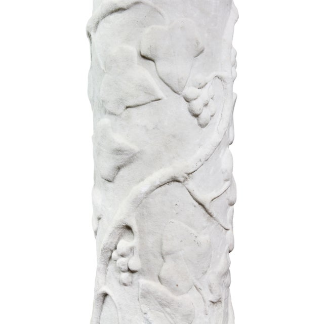 Italian Carrara and Antico Verde Marble Column For Sale In Boston - Image 6 of 10