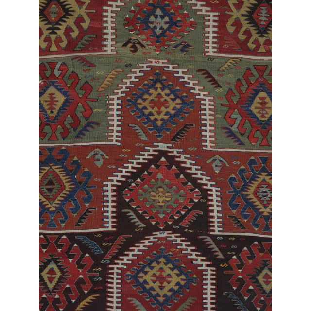 Islamic Kilim with Ascending Arches For Sale - Image 3 of 10