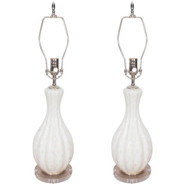 Murano Glass Lamps - A Pair - Image 8 of 8
