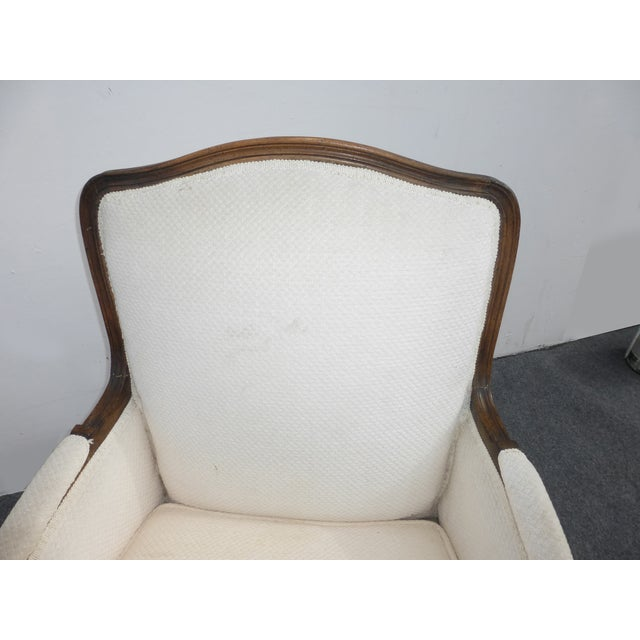 Vintage French Provincial White Arm Chair - Image 5 of 10
