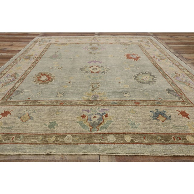 """Textile Contemporary Turkish Oushak Rug - 8'00"""" X 10'04"""" For Sale - Image 7 of 9"""