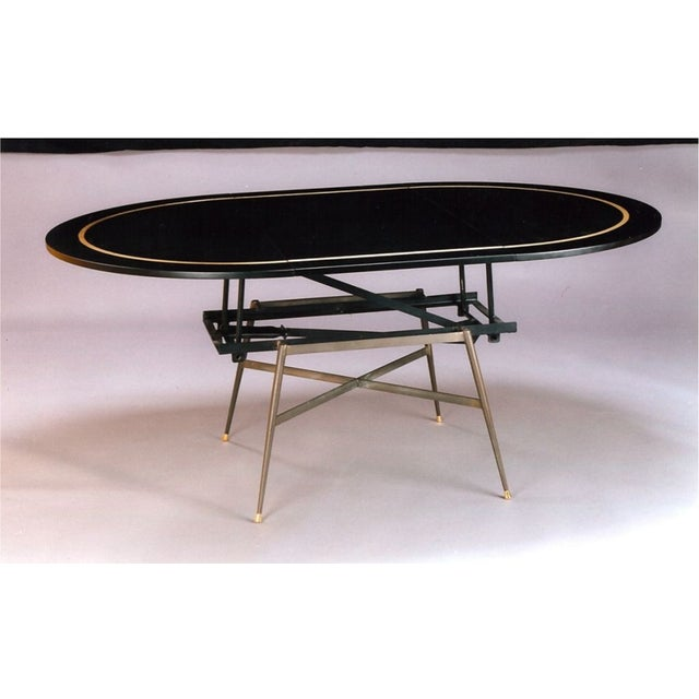 Black and Gold Coffee Table / Dinning Table - Image 2 of 3