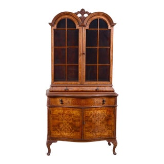 Maple Dome Top Display Cabinet For Sale