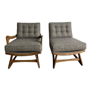 Sculptural Pearsall Style Mid Century Lounge Chairs - a Pair For Sale