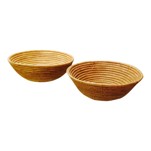 Vintage Handwoven Baskets- a Pair - Image 1 of 4