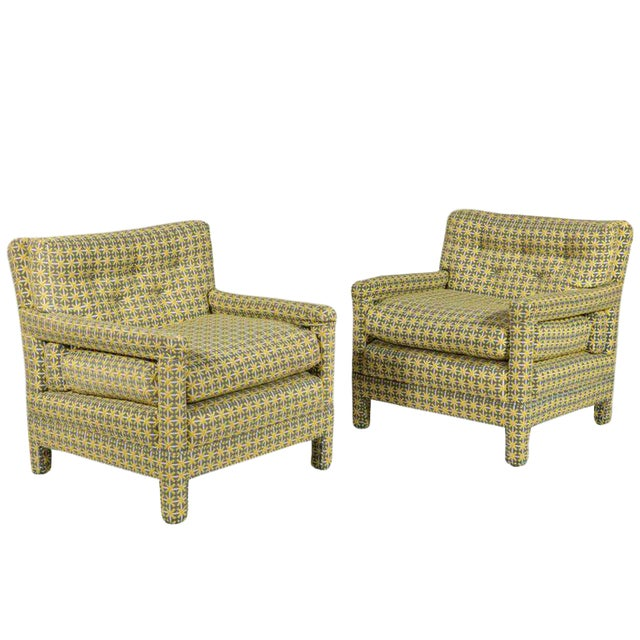 Pair of Milo Baughman Parsons Lounge Chairs For Sale