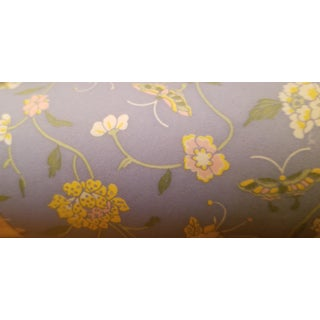1979 Laura Ashley Lavender Mini Flower and Butterfly Wallpaper - 1 Roll For Sale