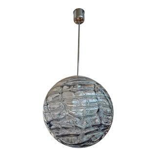 1970's Venini Style Murano Glass Sphere Pendant For Sale