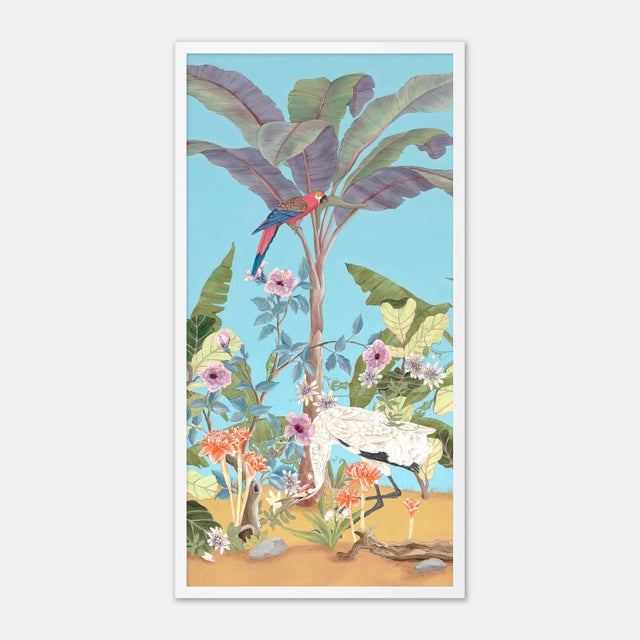 Allison Cosmos Palm Beach Paradise by Allison Cosmos, Set of 3, in White Framed Paper, Medium Art Print For Sale - Image 4 of 8
