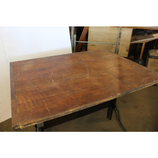 Rustic Early 20th C. Antique Dietzgen American Drafting Table For Sale - Image 3 of 3