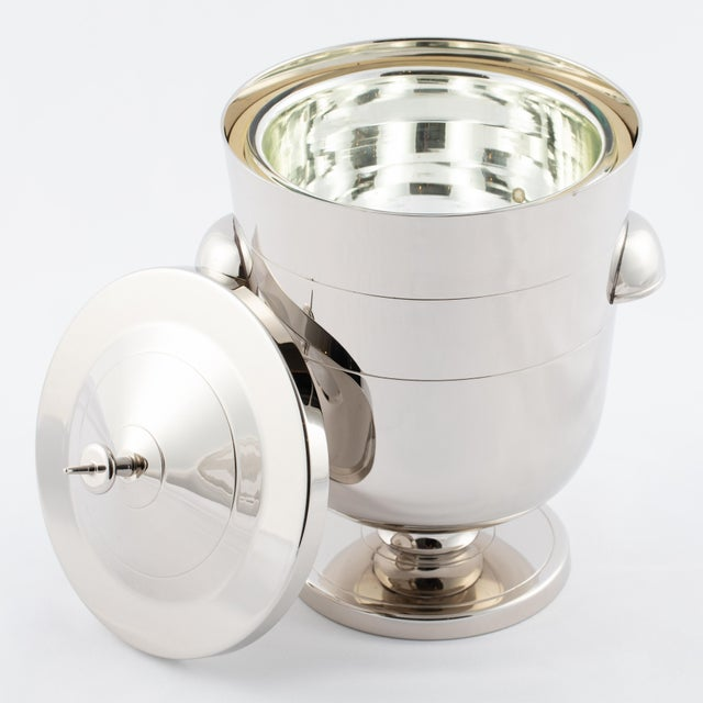 Tommi Parzinger Tommi Parzinger Polished-Nickel Ice Bucket, Circa 1950s For Sale - Image 4 of 9