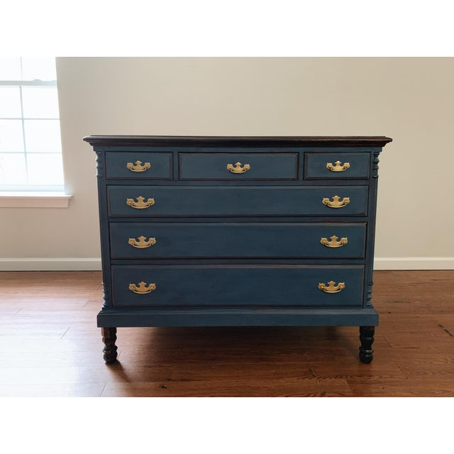1960s Traditional Navy Dresser For Sale - Image 13 of 13