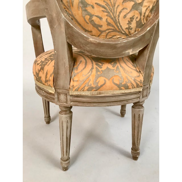 White 1940s French Louis XVI Style Child's or Doll's Armchair Attributed to Maison Jansen For Sale - Image 8 of 8