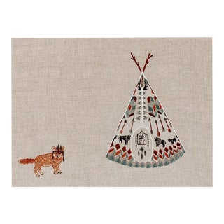 Contemporary Tipi and Fox Framed Art For Sale