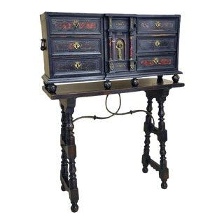 19th Century Spanish Walnut Bargueno Cabinet For Sale