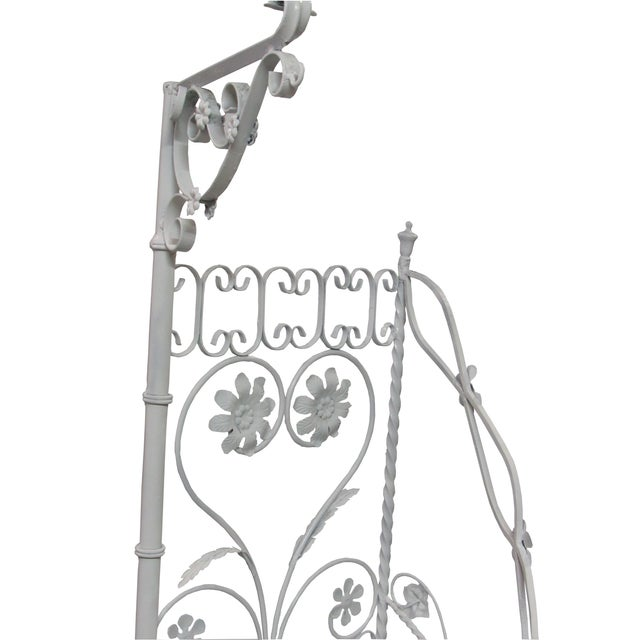 Wrought Iron Garden Staircase Planter Display For Sale - Image 5 of 9