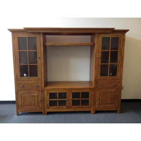 Solid Wood Entertainment Center - Image 2 of 7