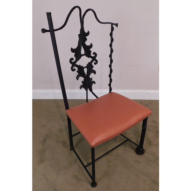 High Quality Hand Crafted Iron Chair Made from Reclaimed Pieces