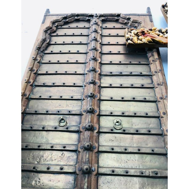 This is an amazing set of Elegant Royal Antique Indian doors made in extremely strong teak wood with an old world earthy...